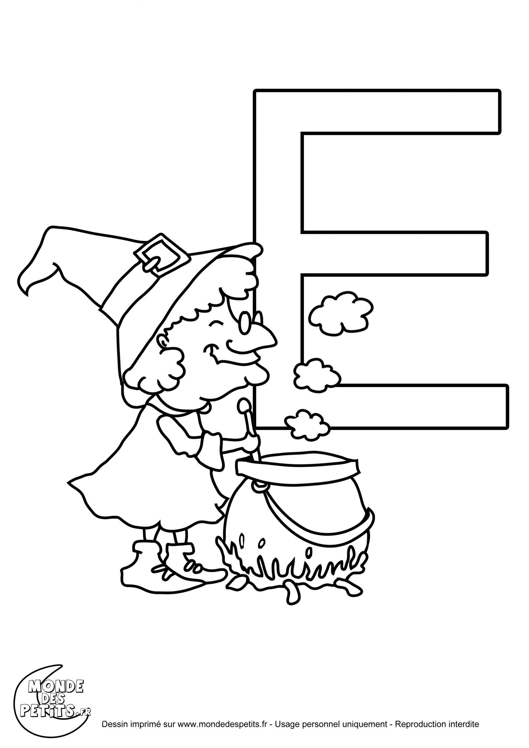 Monde Des Petits - Coloriages À Imprimer tout Dessin Lettre E