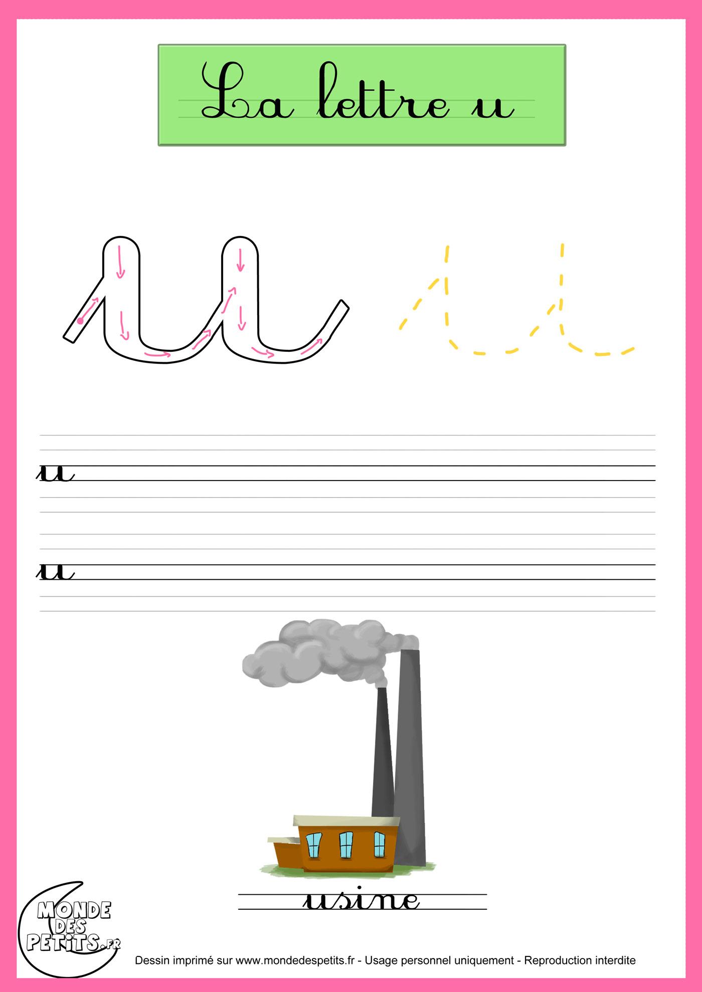 Monde Des Petits - Fiches à Apprendre À Écrire Les Lettres En Maternelle
