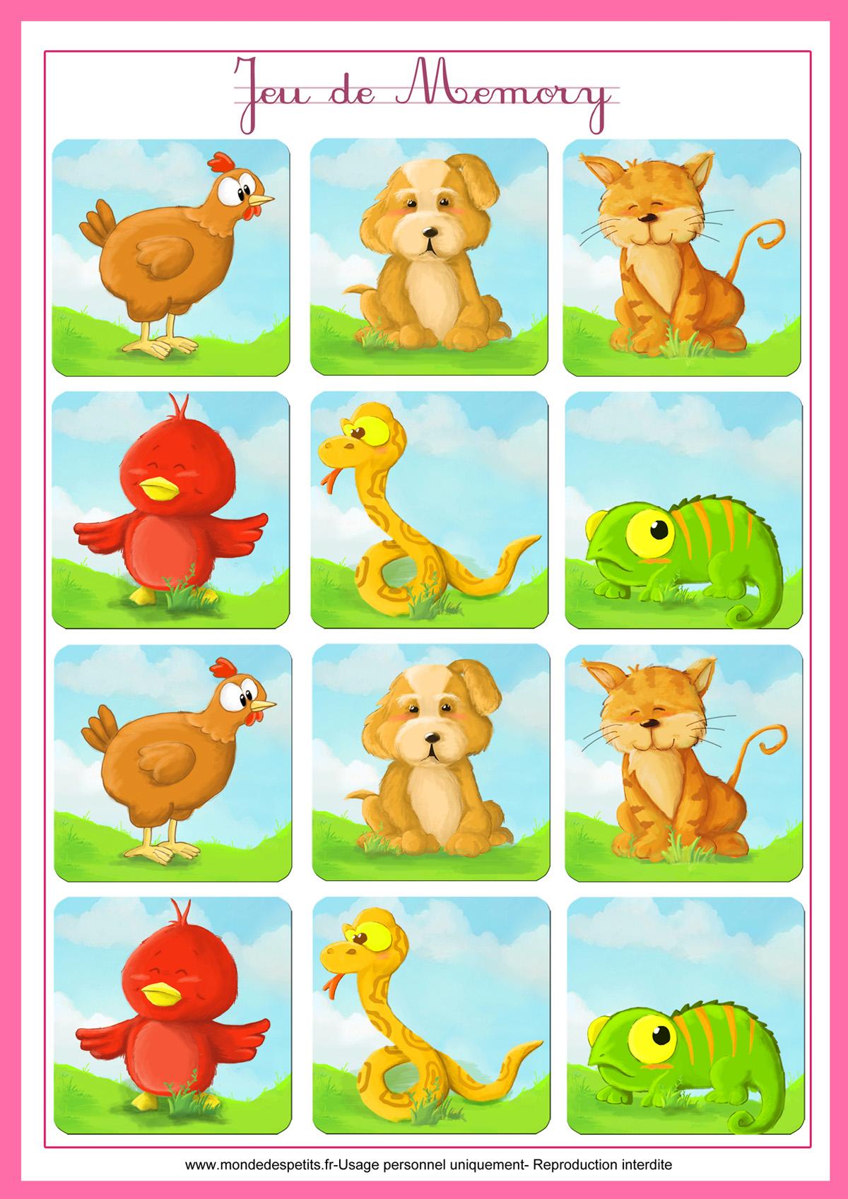 Monde Des Petits - Jeux De Société concernant Jeu Memory Enfant