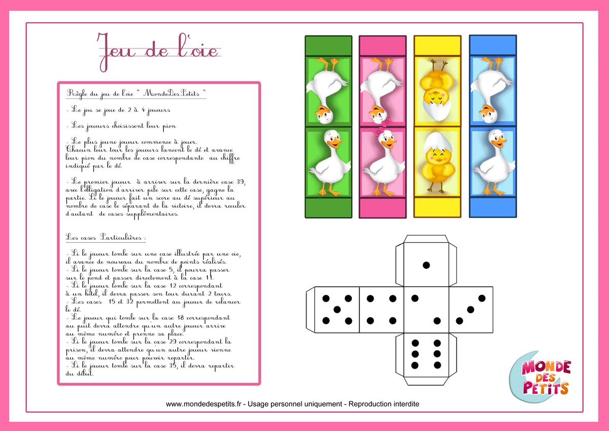Monde Des Petits - Jeux De Société intérieur Jeux De Maternelle À Imprimer