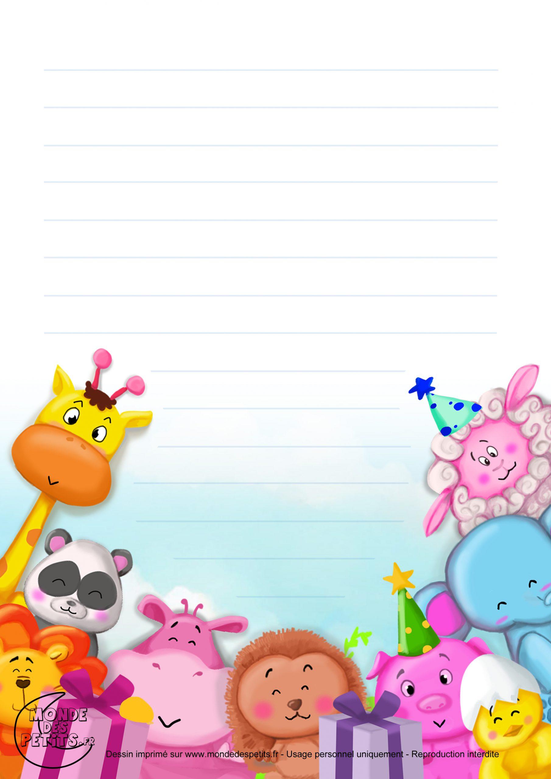 Monde Des Petits - Papier À Lettre à Papier A Lettre Enfant