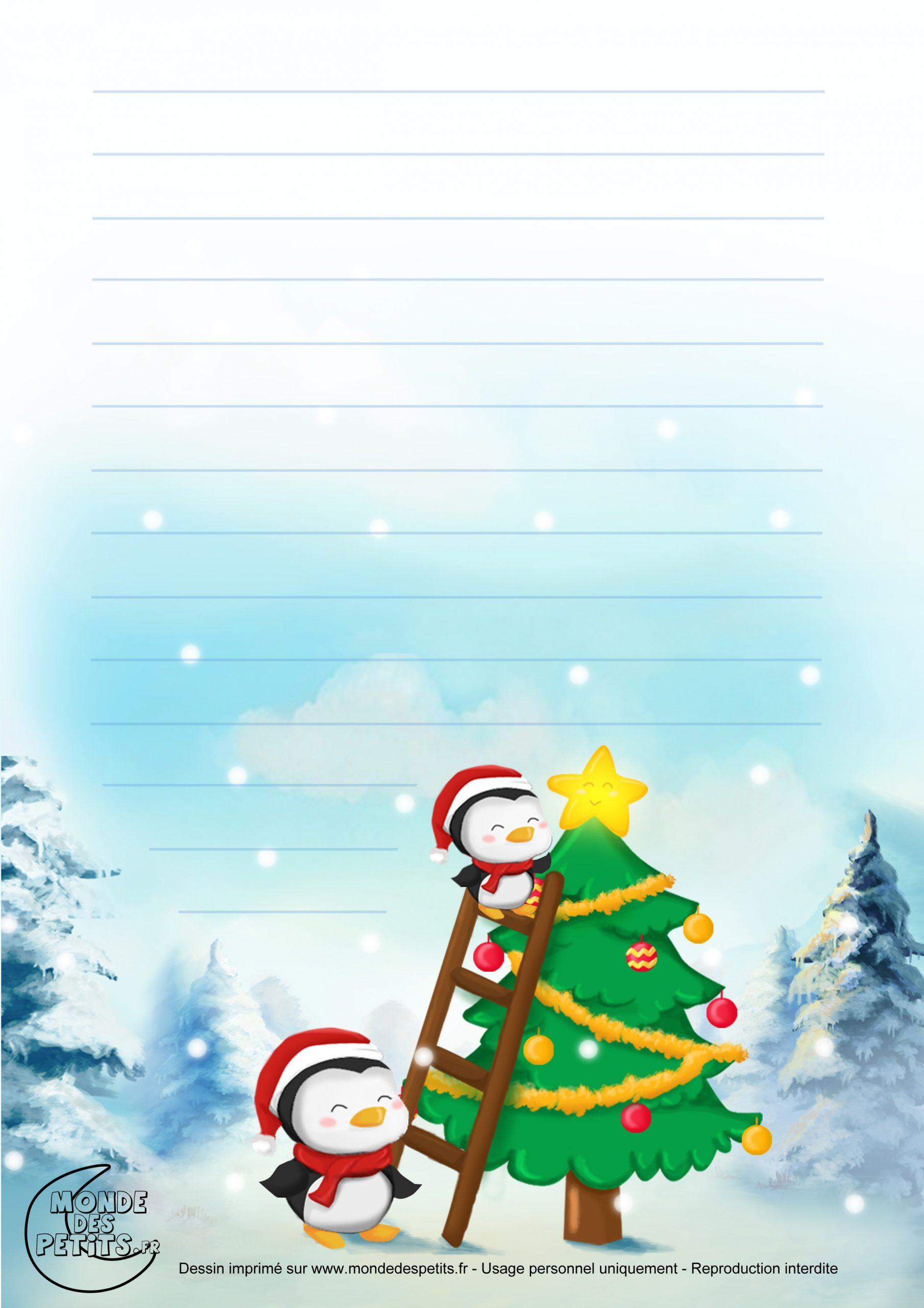 Monde Des Petits - Papier À Lettre pour Papier Lettre De Noel