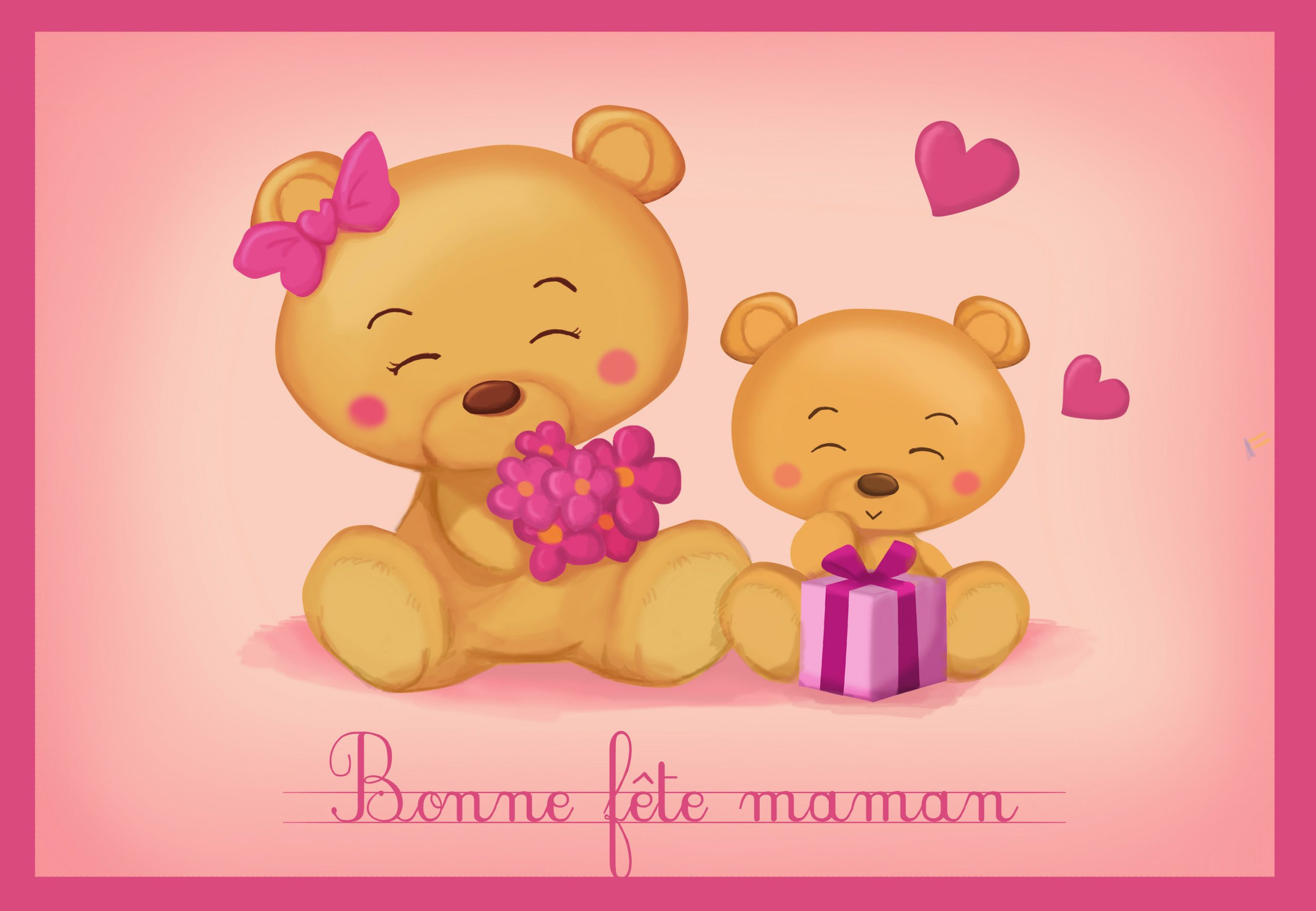 Monde Des Petits - Par Thème à Carte Bonne Fete Maman Imprimer