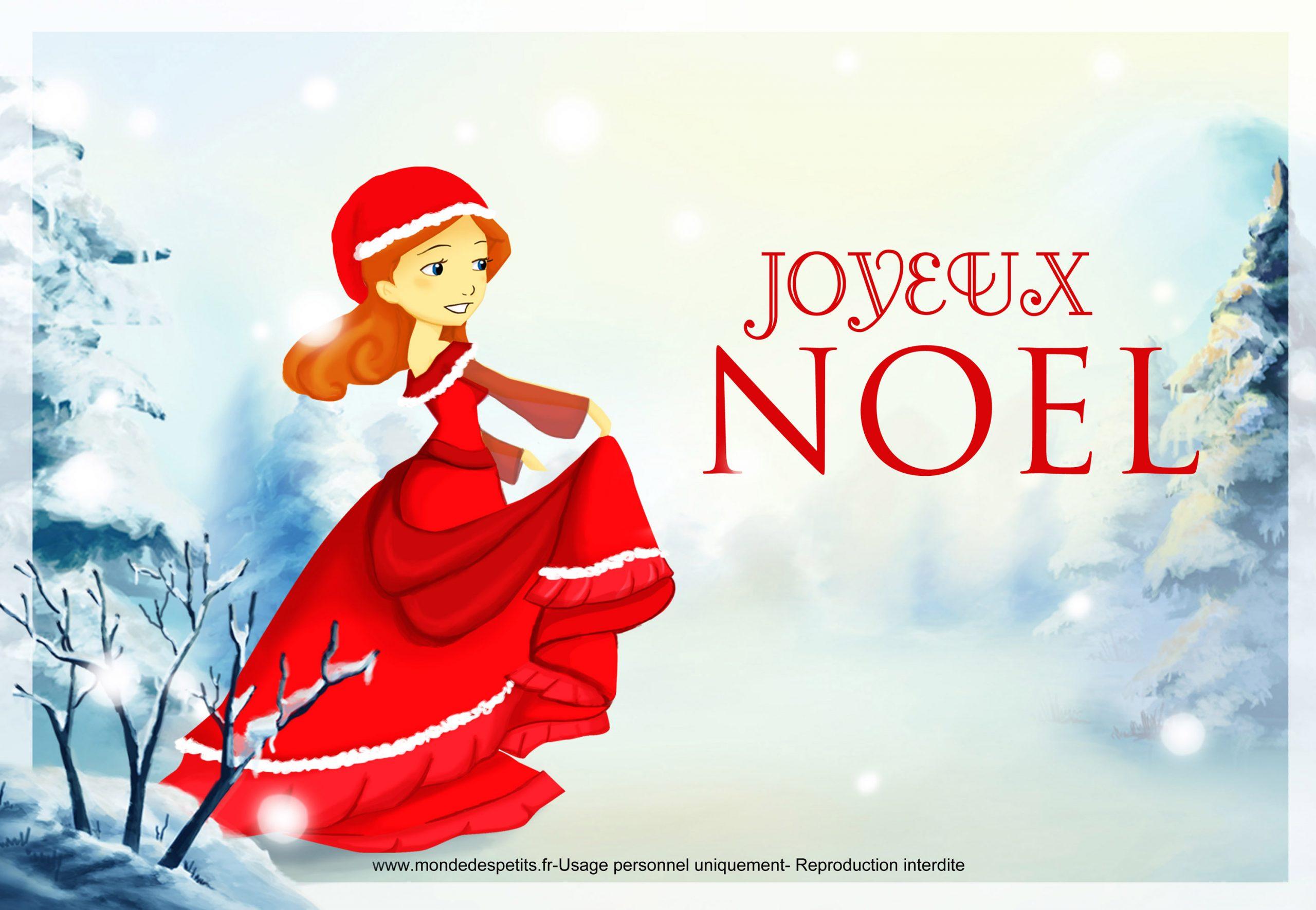 Monde Des Petits - Par Thème dedans Carte Joyeux Noel À Imprimer