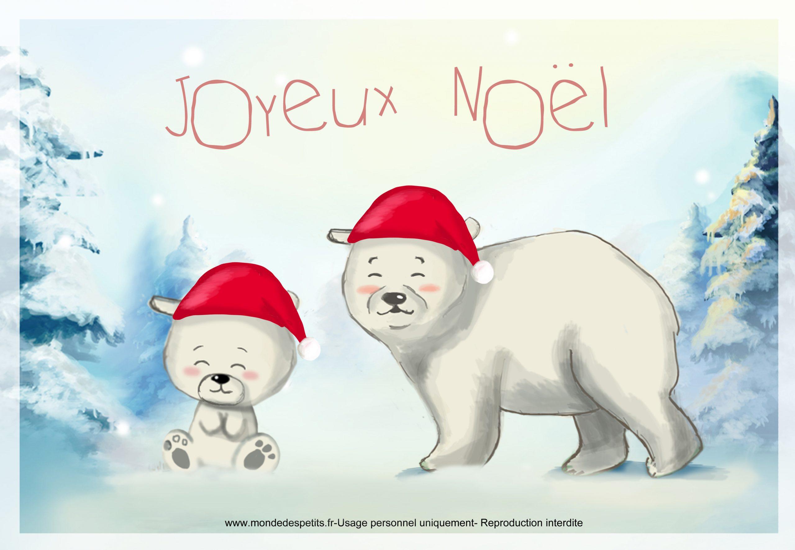 Monde Des Petits - Par Thème encequiconcerne Carte Joyeux Noel À Imprimer