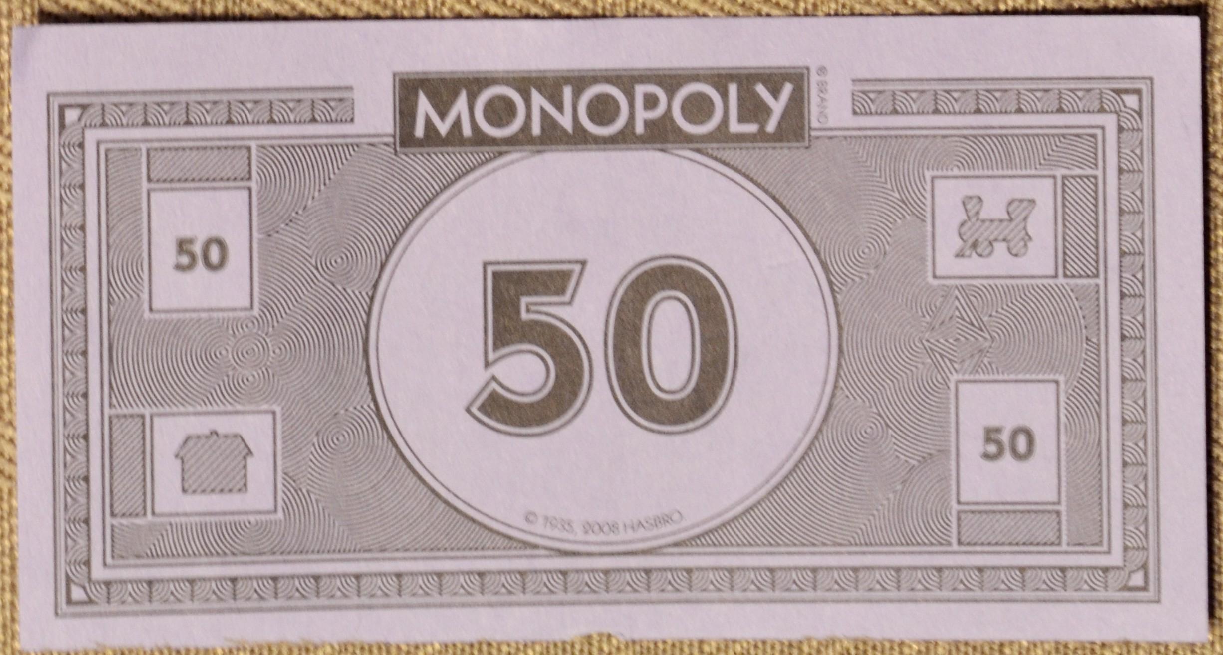 Monopoly Empire à Billet De 50 Euros À Imprimer
