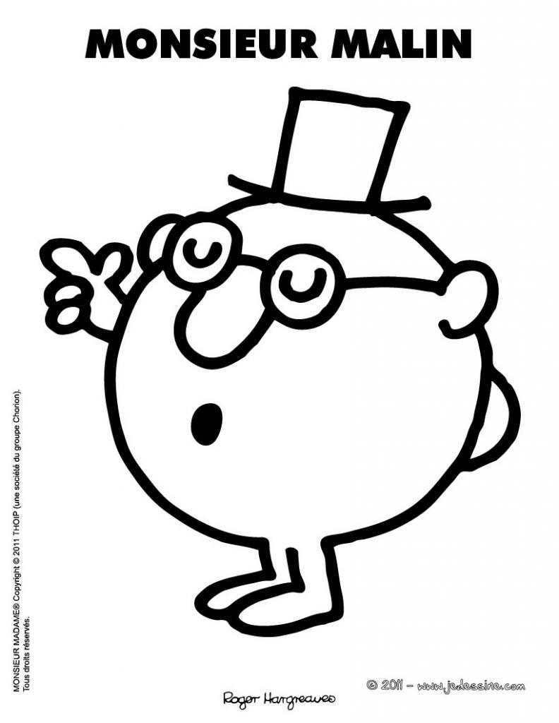 Monsieur Madame Coloriage - Az Coloriage dedans Coloriage Mr Patate