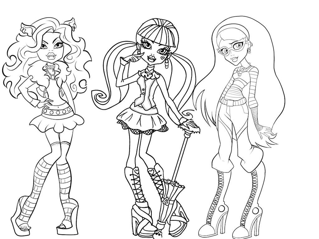 Monster High #6 (Animation Movies) – Printable Coloring Pages pour Image Monster High A Imprimer