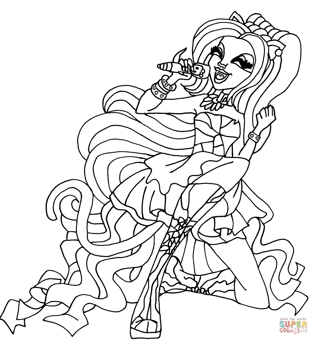 Monster High Coloring Pages Catty Noir serapportantà Image Monster High A Imprimer