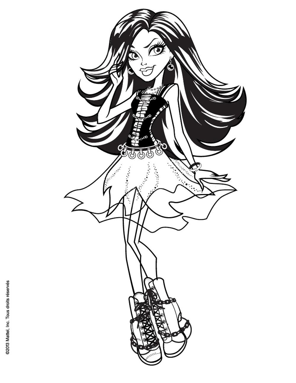 Monster High For Kids - Monster High Kids Coloring Pages concernant Image Monster High A Imprimer