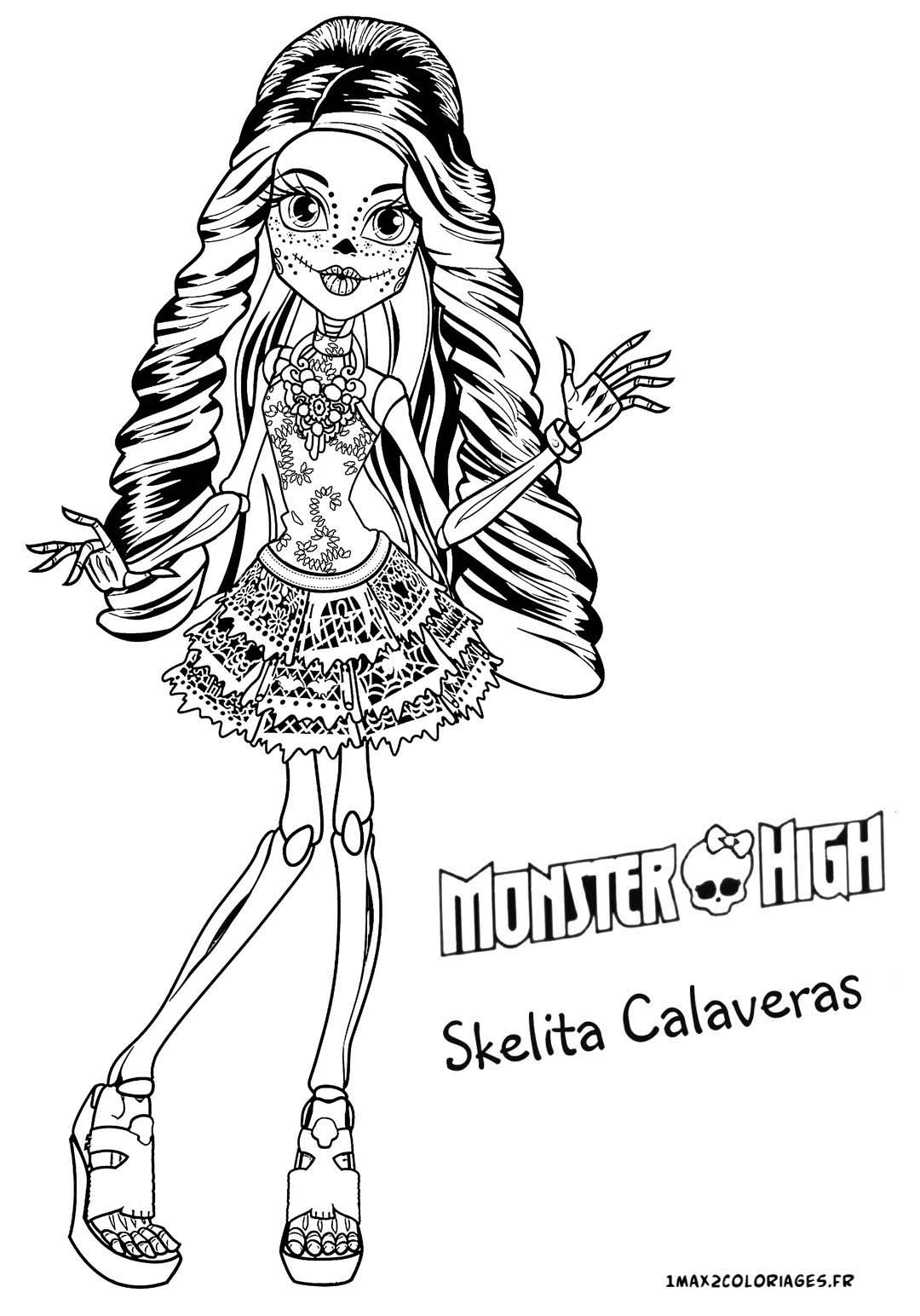 Monster High Free To Color For Kids - Monster High Kids pour Image Monster High A Imprimer