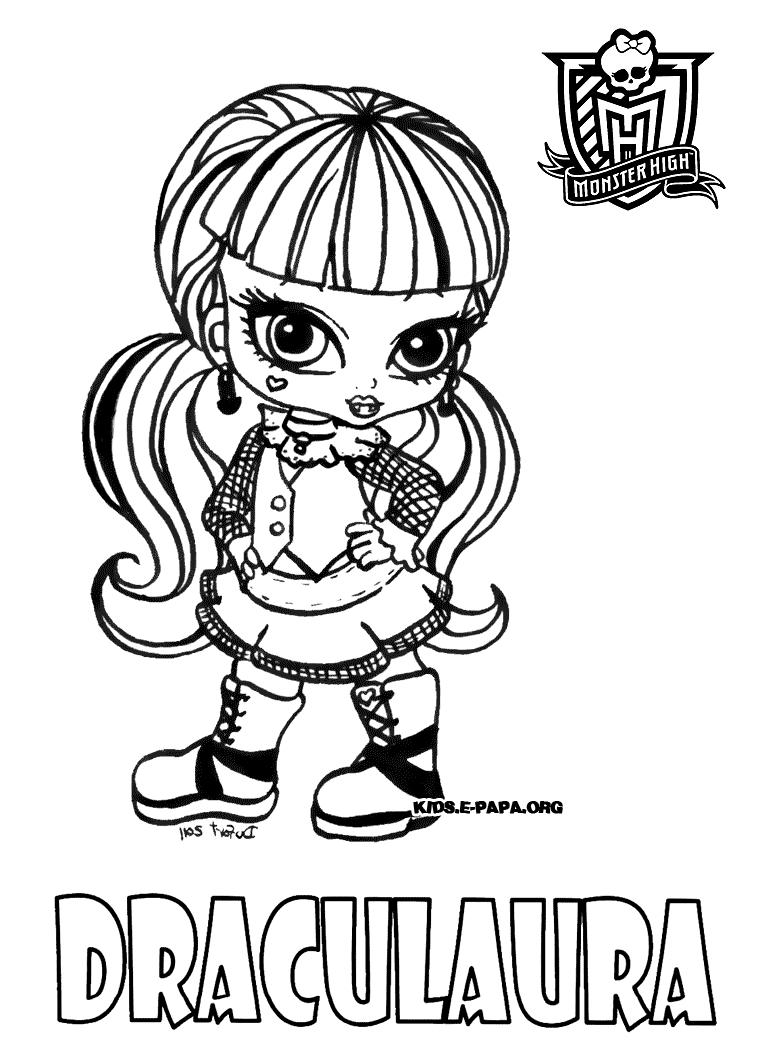 Monster High To Color For Kids - Monster High Kids Coloring intérieur Image Monster High A Imprimer