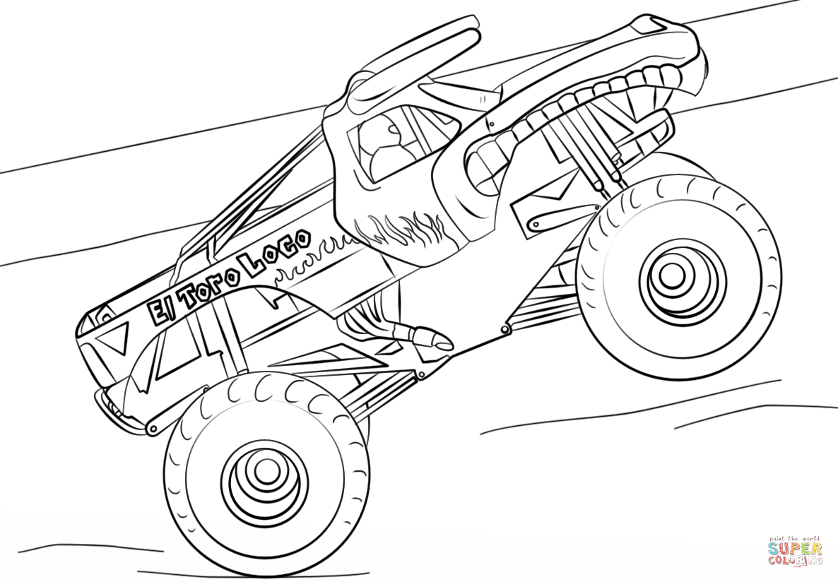 Monster Jam Coloring Pages Monster Jam Scooby Doo Monster concernant Scooby Doo À Colorier