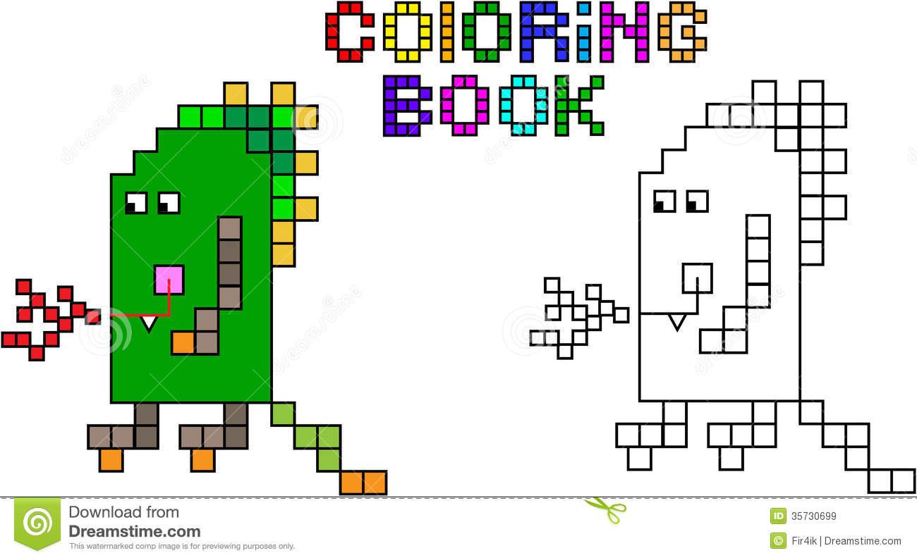 Monstre Troisième De Pixel De Livre De Coloriage pour Coloriage Pixel Gratuit