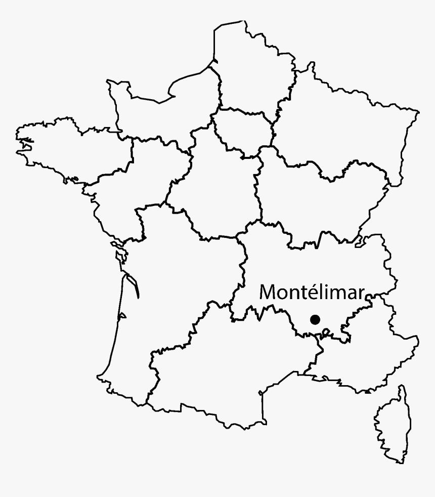 """Montelimar On France Map"""" Class=""""img Responsive Owl - Fond à Carte De France Nouvelle Region"""