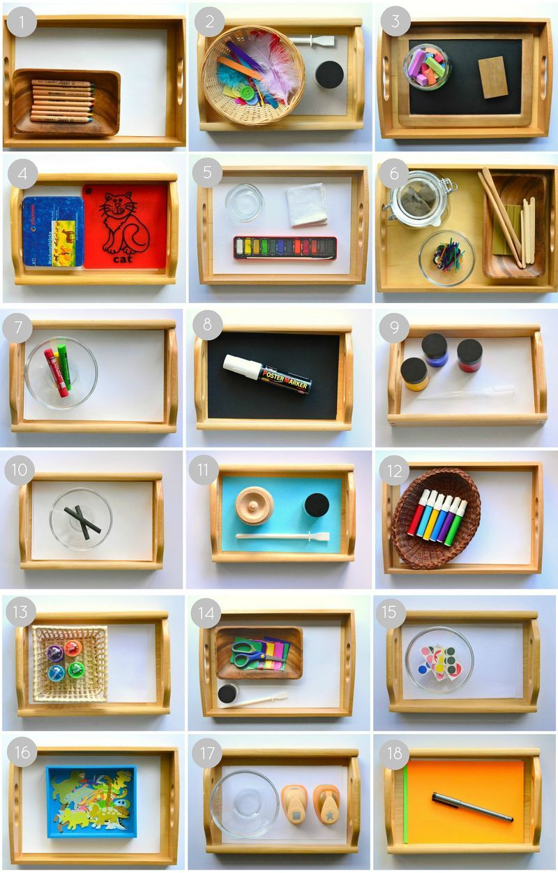 Montessori Art Activities For 2 Year Olds - How We dedans Activité Montessori 3 Ans