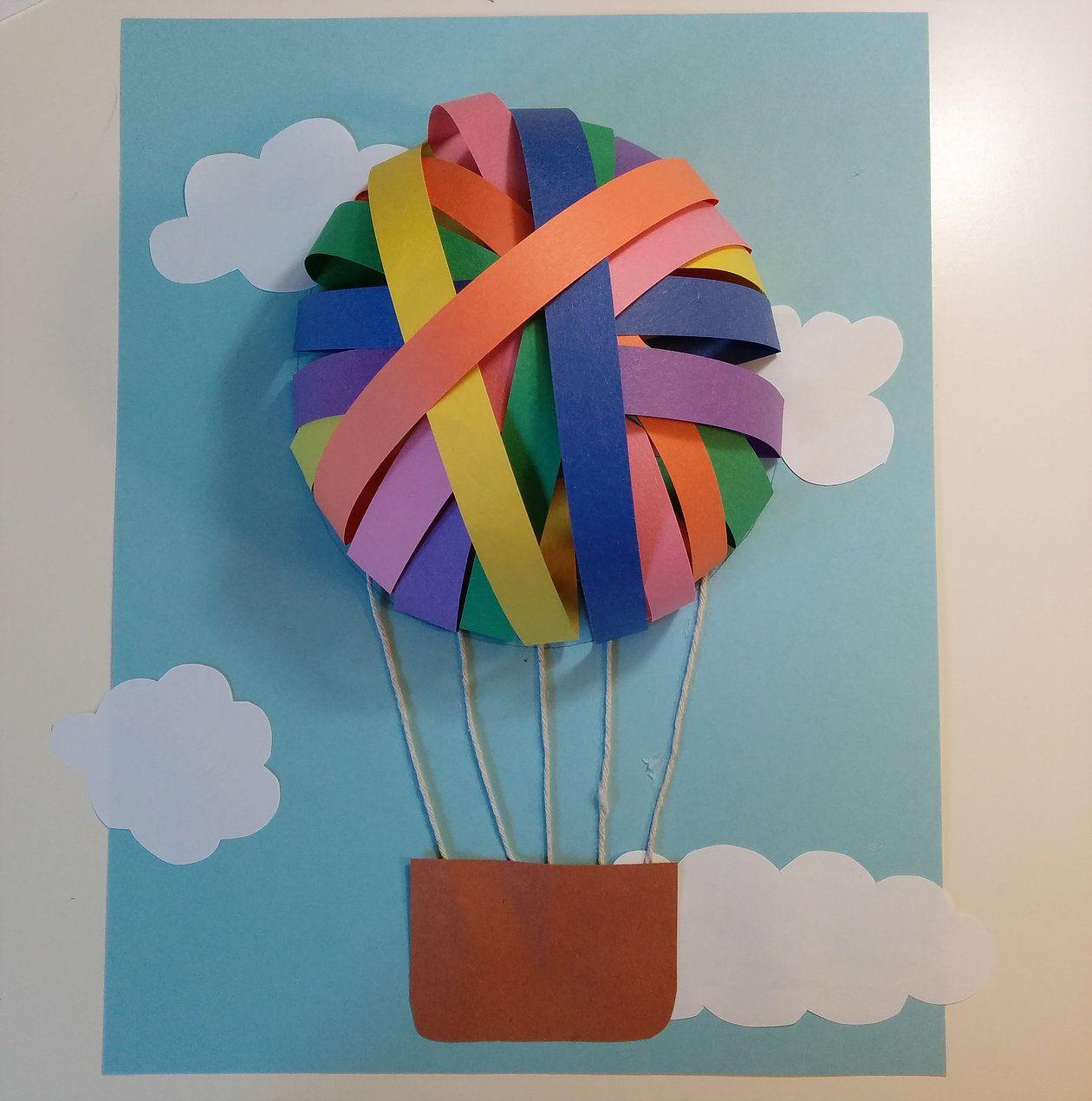 Montgolfières En Papier | Planificateur Bout De Chou | Craft tout Activité Manuelle En Papier
