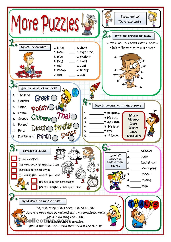 More Puzzles | Apprendre L'anglais, Vocabulaire Anglais Et L concernant Jeux Gratuit Anglais