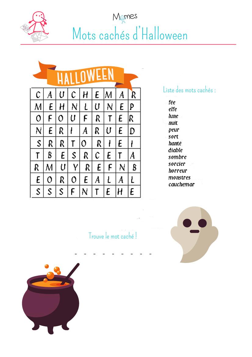 Mots Cachés D'halloween - Momes intérieur Jeux À Imprimer 6 Ans