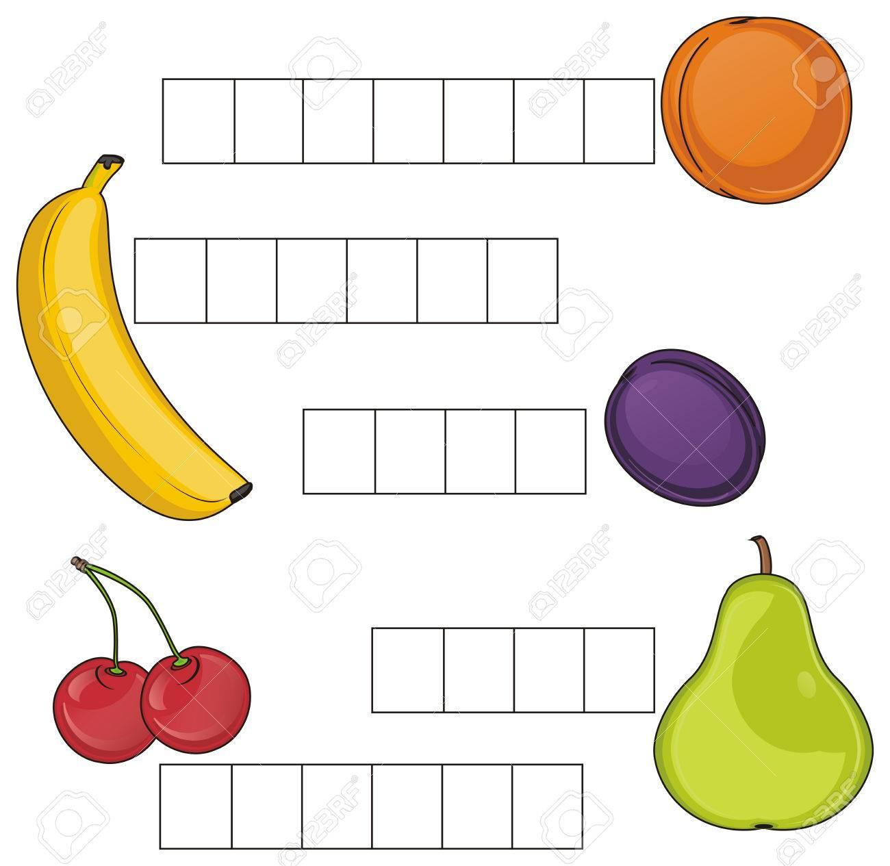 Mots Croisés Avec Des Fruits concernant Mots Croisés Avec Image