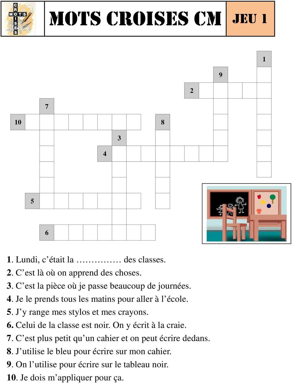 Mots Croises Cm. Source : N Pinel & Site : Http encequiconcerne Mots Croises En Ligne