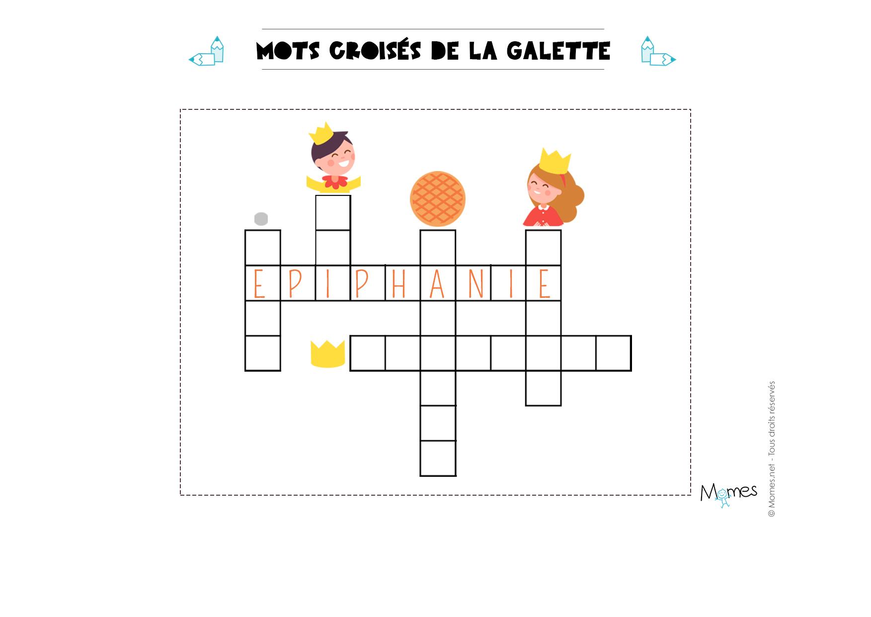 Mots Croisés De La Galette - Momes tout Mots Croisés Enfants À Imprimer