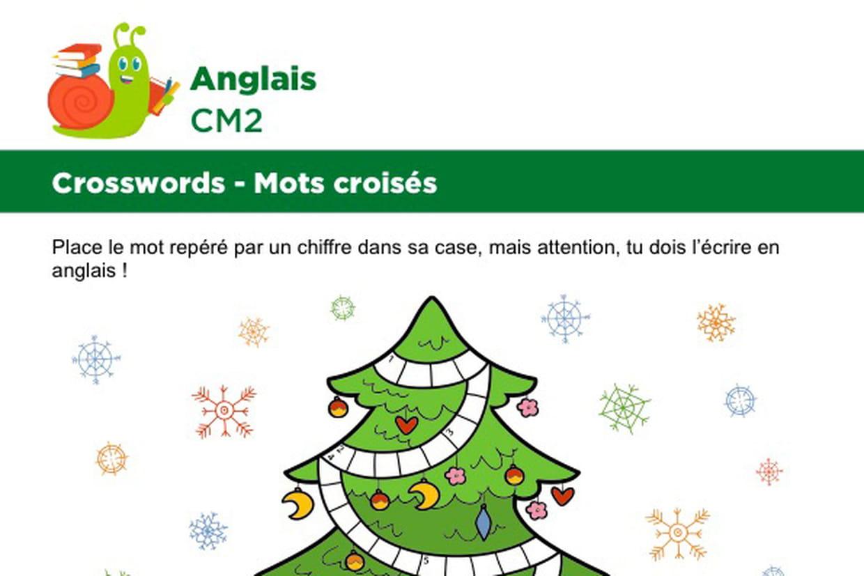 Mots Croisés En Anglais Sur Le Thème Des Cadeaux De Noël avec Mots Croisés Noel