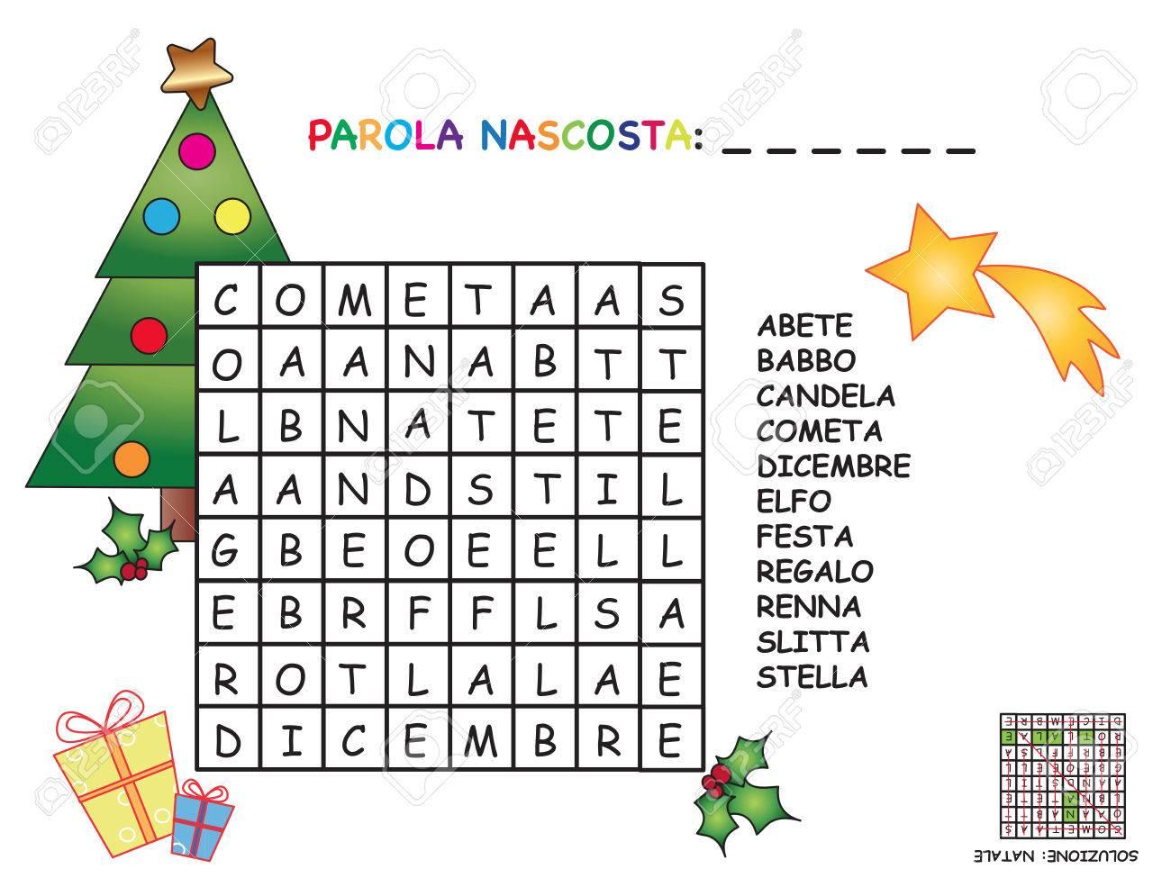 Mots Croisés En Italien Pour Noël concernant Mots Croisés Enfants À Imprimer