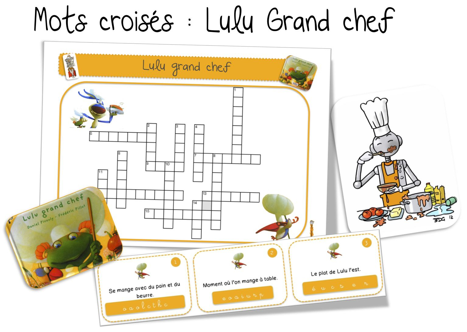 Mots Croisés : Lulu Grand Chef | Bout De Gomme avec Mot Croisé Cp