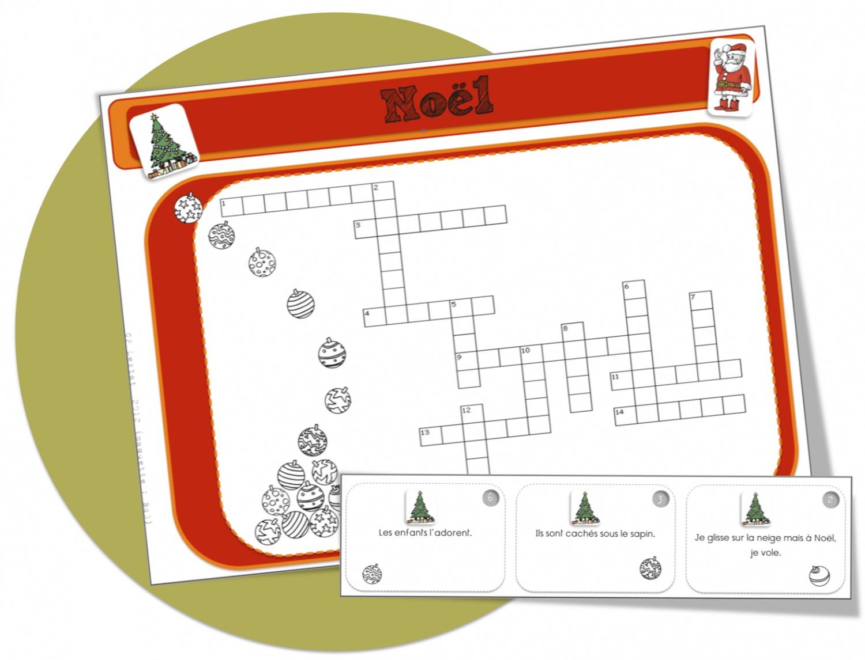 Mots Croisés Noël : Cp Ou Ce1 | Bout De Gomme à Mot Croisé Cp