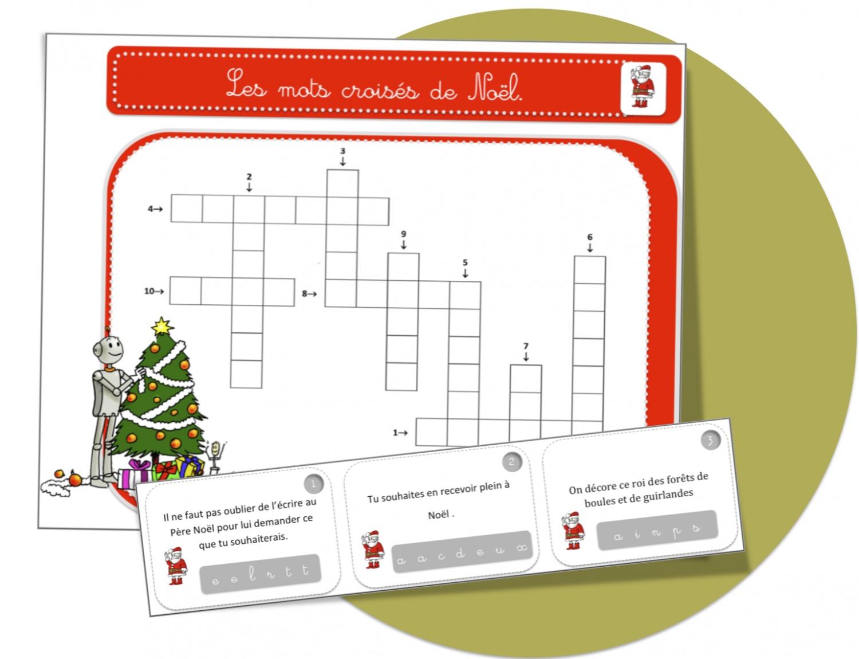 Mots Croisés Noël : Cp Ou Ce1 | Bout De Gomme pour Mots Croisés Noel