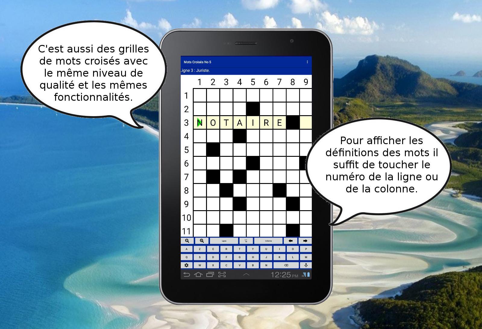 Mots Fléchés Croisés Mêlés Sudokus Gratuits For Android tout Mots Fleches Ligne