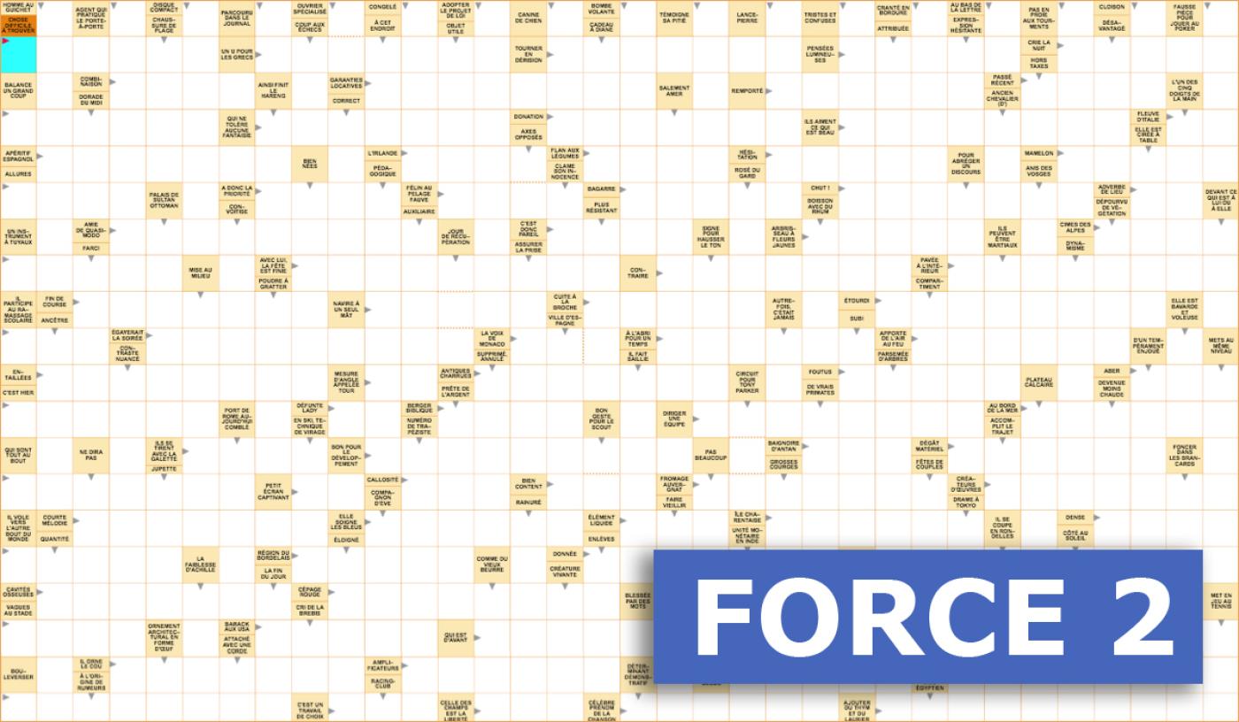Mots Fléchés Géants Gratuits - Force 2 - 14 Mars 2020 avec Mots Croisés Gratuits À Imprimer