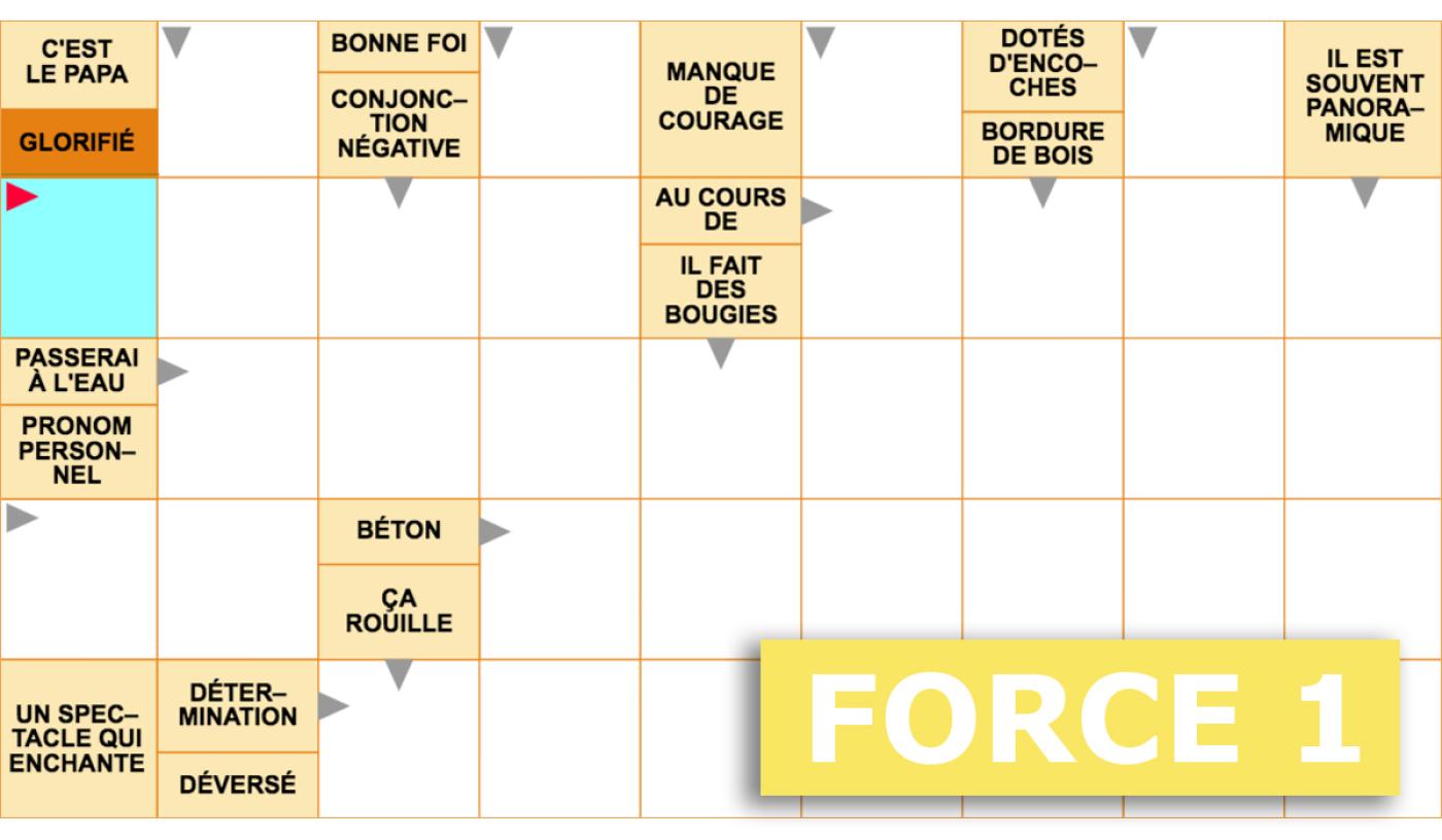 Mots Fléchés Gratuits - Force 1 - 16 Mars 2020 à Mots Fleches Enfants