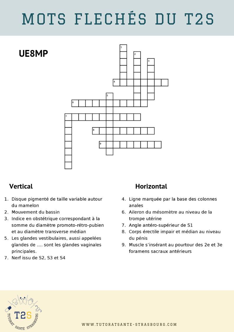 Mots Fléchés N°5 – 2019 - Tutorat Santé Strasbourg avec Mots Fléchés En Ligne