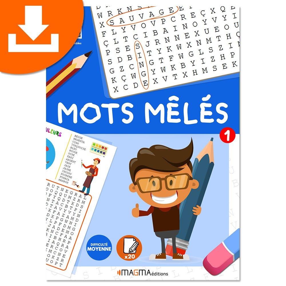 Mots Mêlés 1 Niveau Moyen Magma Éditions - Produit Téléchargeable encequiconcerne Mots Mêlés Cm2