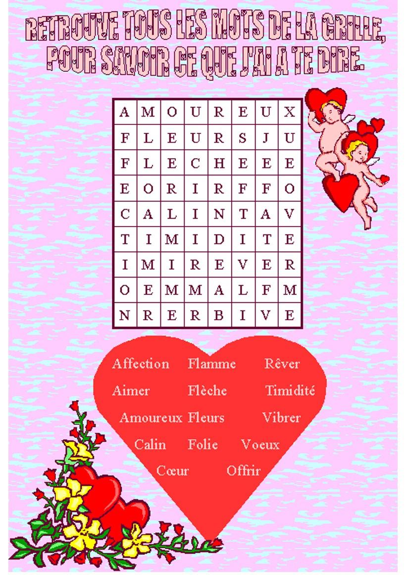 Mots Mêlés À Imprimer - Jeux Pour Enfants - Jeux De intérieur Mots Fléchés Simples À Imprimer