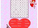 Mots Mêlés À Imprimer - Jeux Pour Enfants - Jeux De tout Mots Fléchés Facile À Imprimer