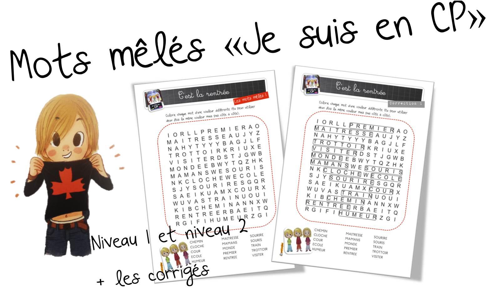 Mots Mêlés « Je Suis En Cp » | Bout De Gomme serapportantà Jeux De Mots Mélés Gratuit