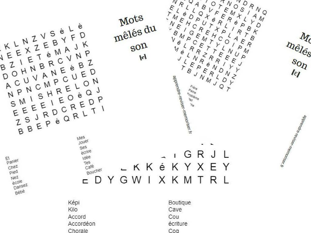 Mots Mêlés Lecture Sons Complexes - Apprendre, Réviser concernant Mots Mêlés Cm2