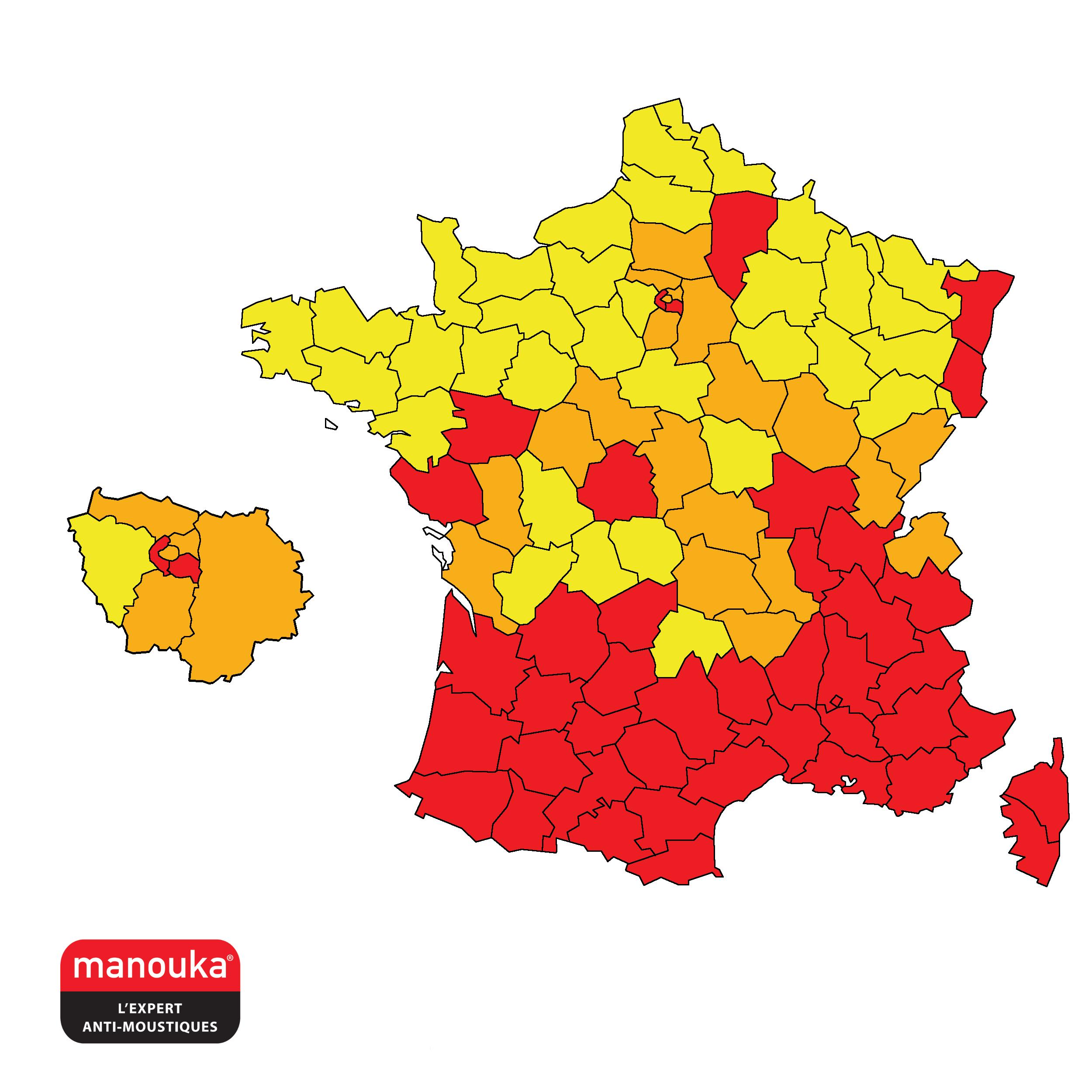 Moustique Tigre : La Nouvelle Carte 2018 à Nouvelles Régions De France 2017