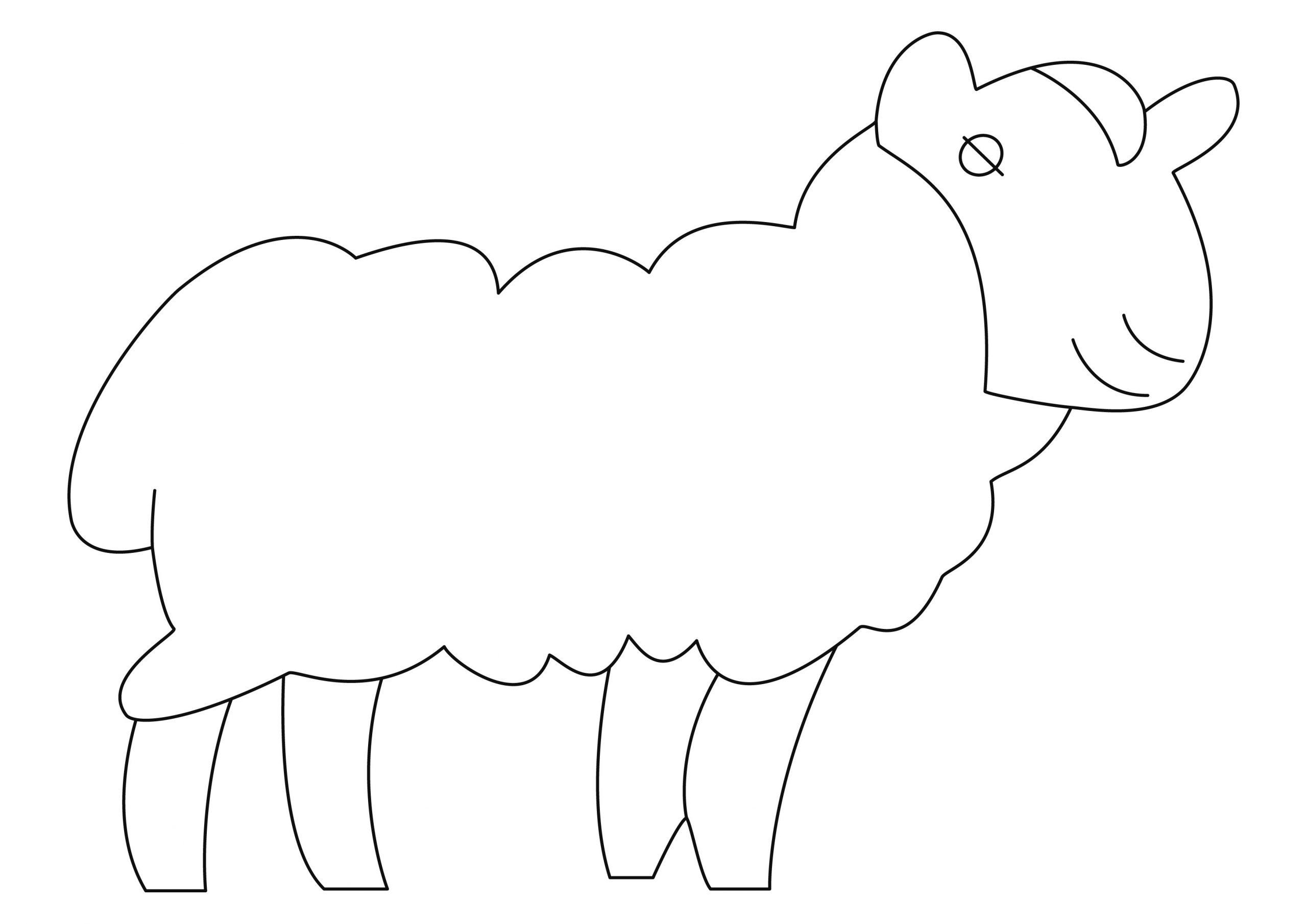 Mouton 08 - Motif À Décorer encequiconcerne Photo De Mouton A Imprimer