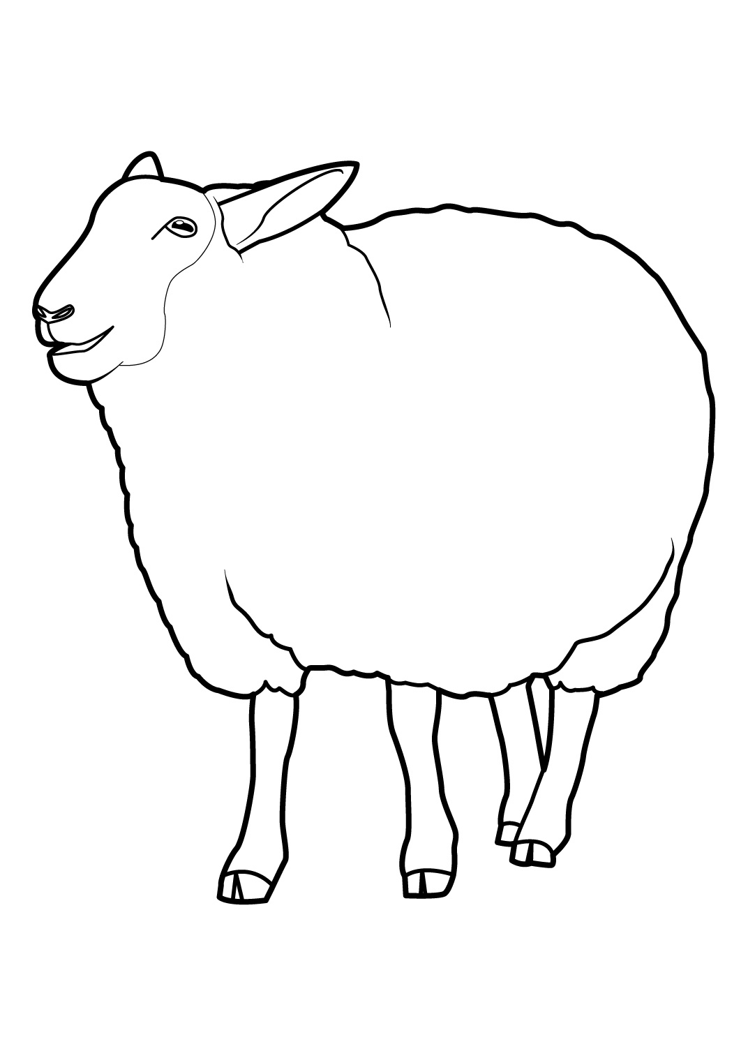 Mouton #14 (Animaux) – Coloriages À Imprimer à Photo De Mouton A Imprimer