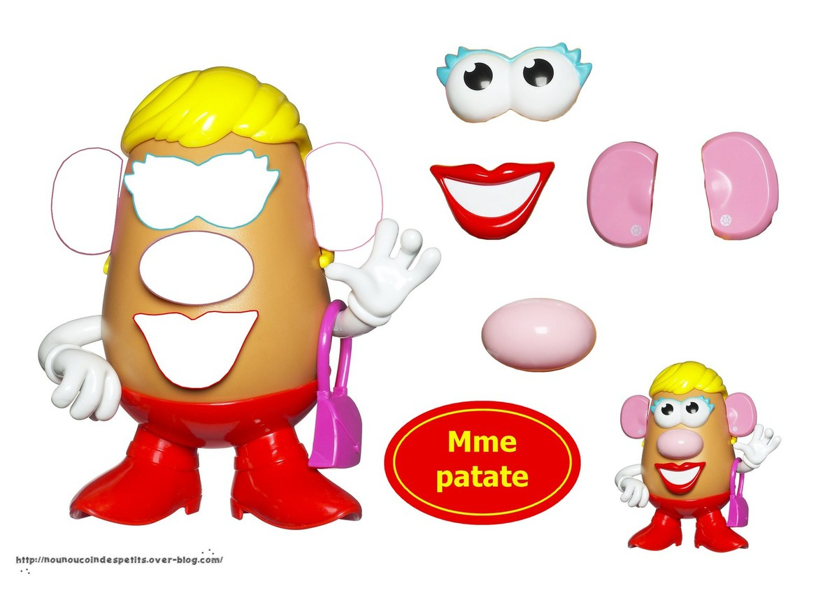 Mr Et Mme Patate Collage .. - Le Blog De Nounoucoindespetits dedans Mr Patate Coloriage