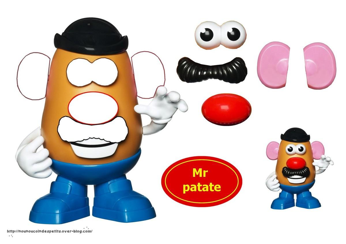 Mr Et Mme Patate Collage .. - Le Blog De Nounoucoindespetits intérieur Mr Patate Coloriage