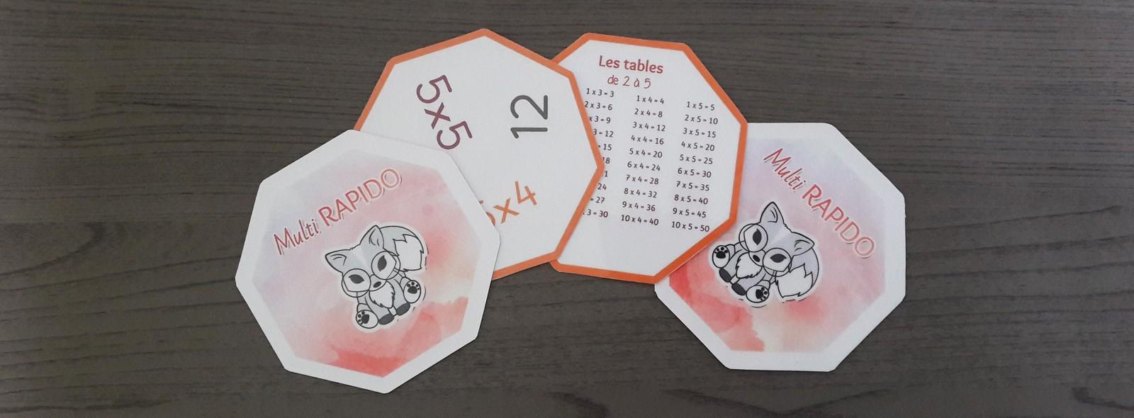 Multi Rapido - Jeu Dobble Des Multiplications - La Tanière intérieur Tables De Multiplication Jeux À Imprimer