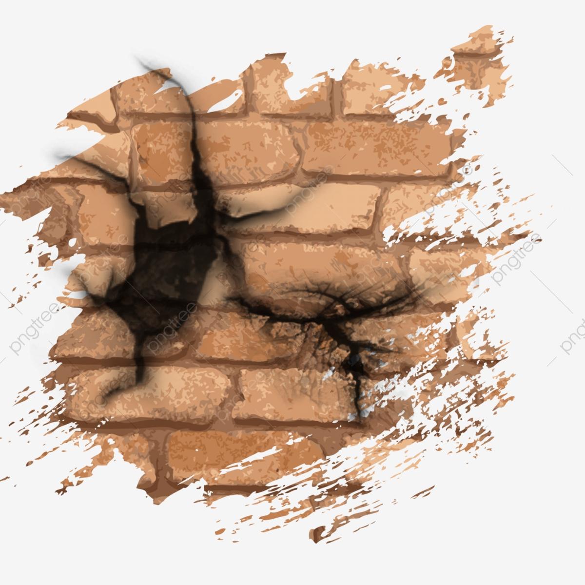 Mur De Brique Rupture Mur Effet, Cassé, Fissure, Mur Fichier destiné Casse Brick