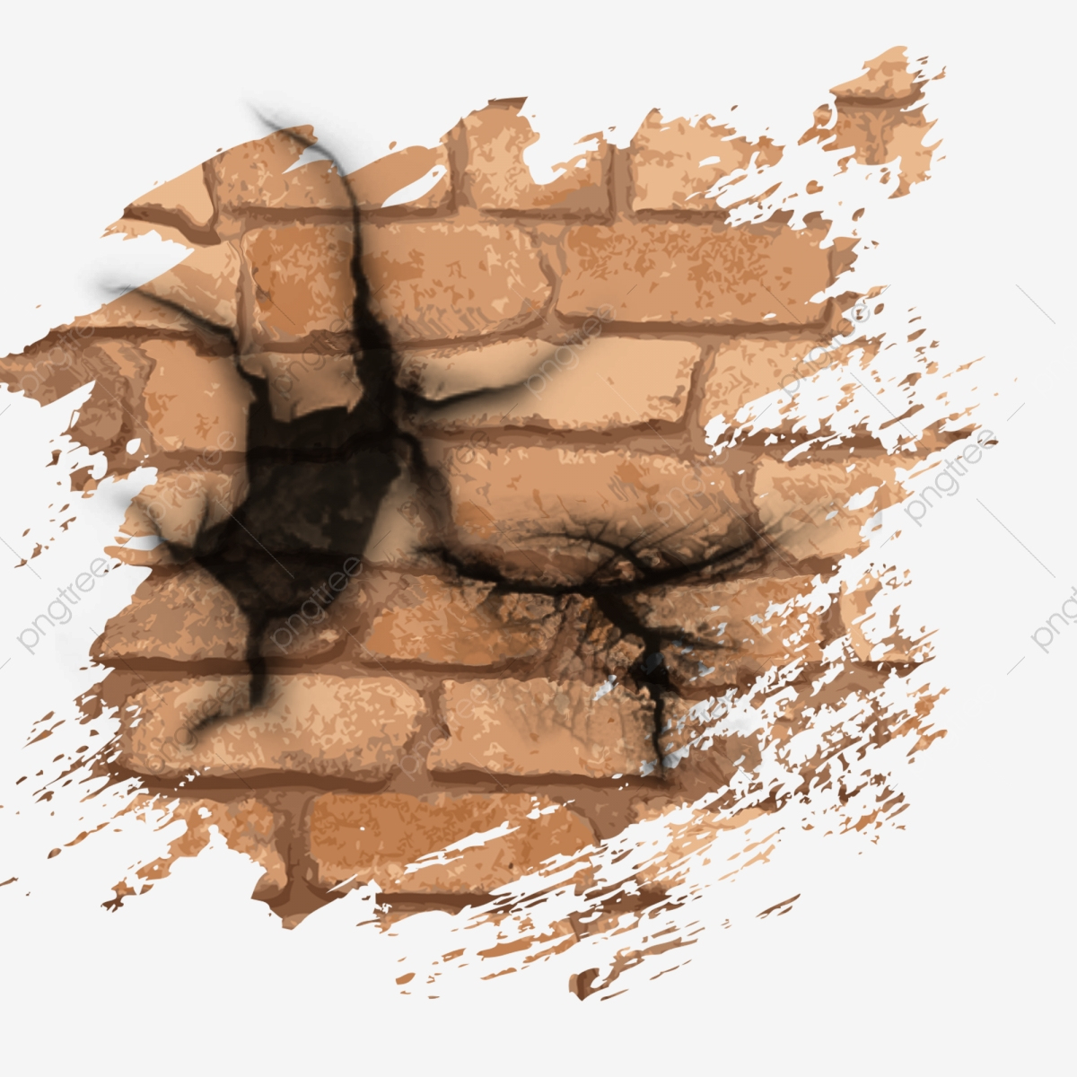 Mur De Brique Rupture Mur Effet, Cassé, Fissure, Mur Fichier encequiconcerne Casse Brique En Ligne