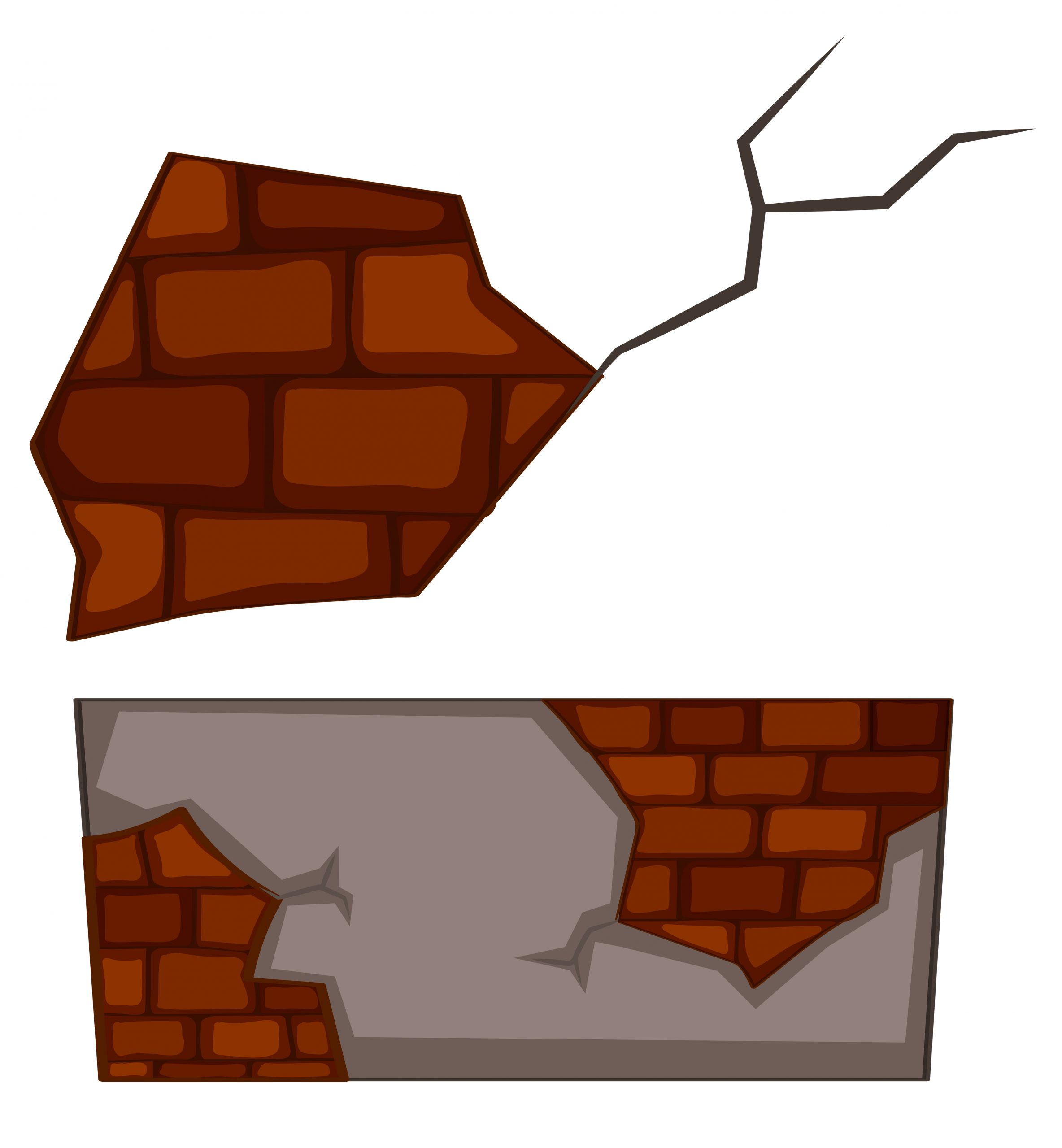 Mur De Briques Avec Des Fissures Sur Fond Blanc tout Casse Brique Gratuit En Ligne