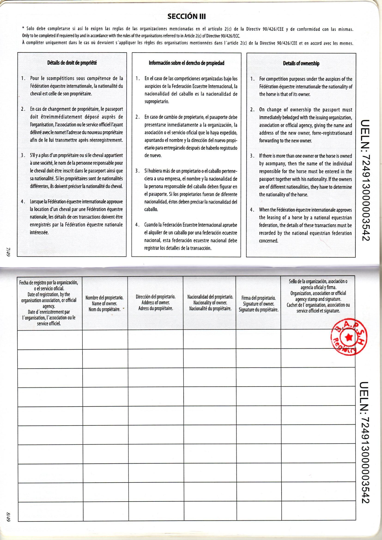 Murcia-Region Gov Passport Sec Iii-Owner Details - The intérieur Nombre De Region